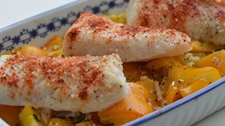 Cytrynowy dorsz z papryką