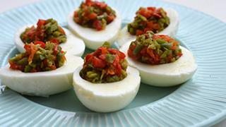 Jaja faszerowane warzywami