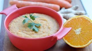 Zupa marchewkowa z pomarańczami i imbirem
